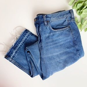 Free People Raw Hem Crop Jeans